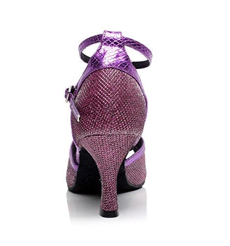 5cm heeled7 Women's High Shoes Tango Jazz JSHOE Dance EU35 Sandals Shoes Purple UK4 Our36 Salsa Modern Tea Latin Samba Heels aRxSZq