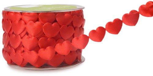 Heart Ribbon - May Arts 3/4-Inch Wide Ribbon, Red Hearts
