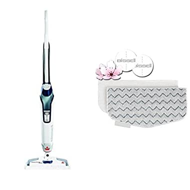 Long Lasting Performance Bundle - Bissell 1806 Power Fresh Deluxe Steam Mop + BISSELL PowerFresh Steam Mop Pads (2 pk) with Fragrance discs (4 ct)