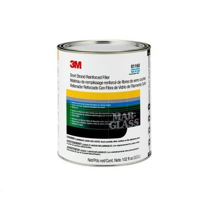 3M(TM) Short Strand Reinforced Filler, 01160, 1 Gallon (US) Can, 4 per case