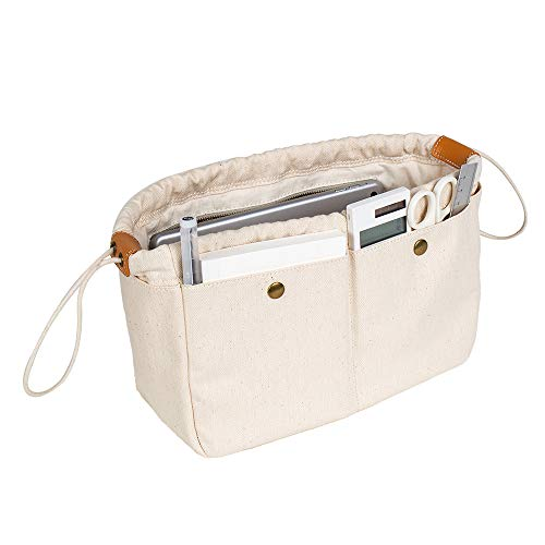 Purse Organizer Insert, Easy Handbag organizer with Zipper, Inside Bag Divider & Tote Shaper Tote Bag in Bag Inside Purse Organizer (M)