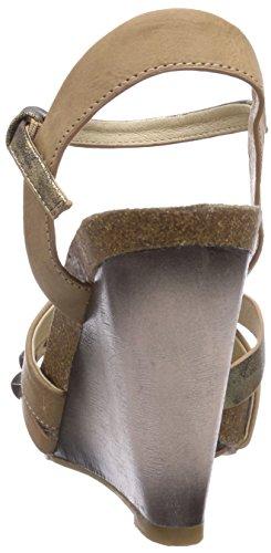 Buffalo H711B-15 P1690M P2023E P1690F - Sandalias de vestir de material sintético para mujer beige - Beige (TAUPE 01)