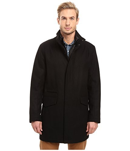 - Marc New York by Andrew Marc Men's Stanford Pressed Wool Car Coat With Removable Quilted Bib Black X-Large