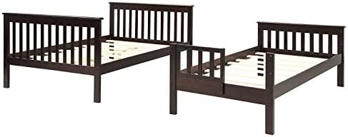 P PURLOVE Stairway Bunk Beds Twin-Over-Full Bunk Bed