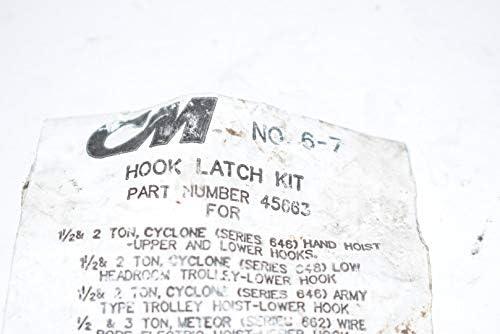 Columbus McKinnon 490-66373 0.37 in 43-Straight G30 Clevis Slip Hook with Latch