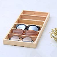 Activane Glass Display Box Wooden Eyewear Glasses Storage Case Sun Glasses Sunglasses Organizers Box Jewelry Storage Display Stand Holder
