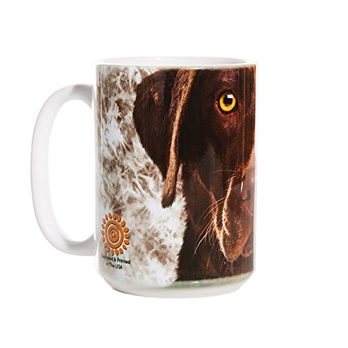 Lab Mug - The Mountain 57355009011 Chocolate Lab Face Coffee Mug, 15 oz, White