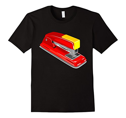 Funny Group Office Costumes (Mens Stapler Costume T-Shirt Funny Office School Stapling Gadget 3XL Black)