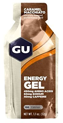 GU Energy Gel Caramel Macchiato w/Caffeine, Single 1.1 oz Packet