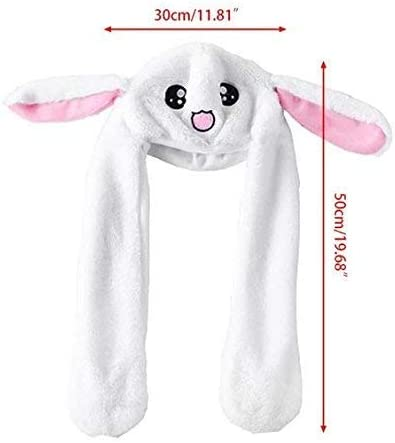 Halloween Hat Trend of 2018 Easter Hat Costume Hat TIK Tok Movable//Jumping Rabbit Ear Hat Rabbit Plushy Easter Bunny