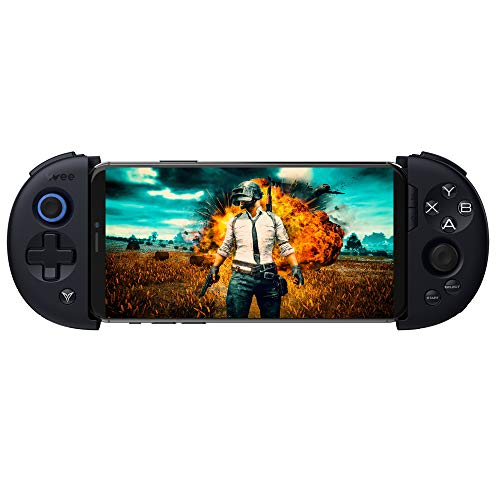 (Bounabay Wireless Telescopic Bluetooth Controller Gamepad for Android System,Black)