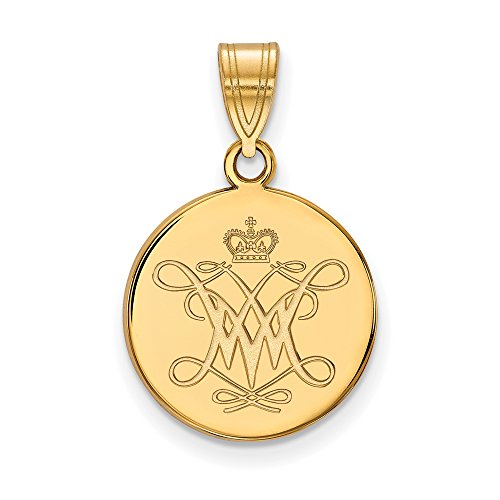 14ky William And Mary Medium Disc Pendant by LogoArt