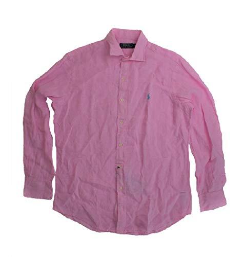 Polo Ralph Lauren Men's Classic Fit Linen Shirt Pink Medium