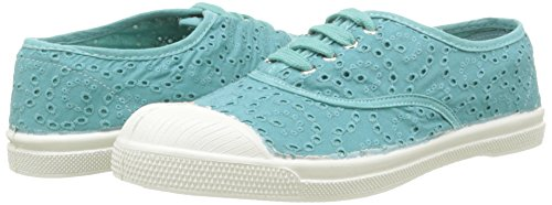 Turquoise Tennis Bensimon Sneaker Donna Turchese Anglaise turquoise Broderie 505 vnqO8Hfn7