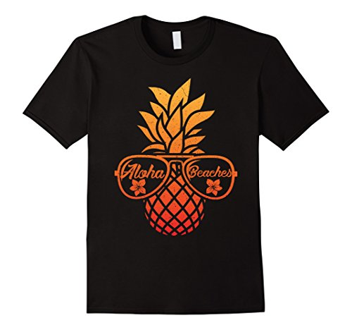 Mens Pineapple Sunglasses Aloha Beaches Vintage Hawaiian Shirt XL - Sunglasses Friday Aloha