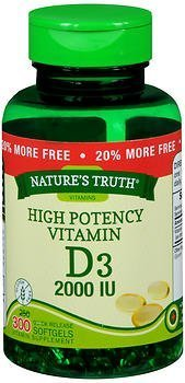 Nature's Truth High Potency Vitamin D3 2000 IU Quick Release Softgels -300 ct by Nature's Truth