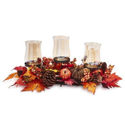Sur La Table Pumpkin Hurricane Candle Holder