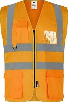 Medium Traega TWC04 Hi Vis Visibility Safety Workwear Executive Vest Waistcoat Jacket