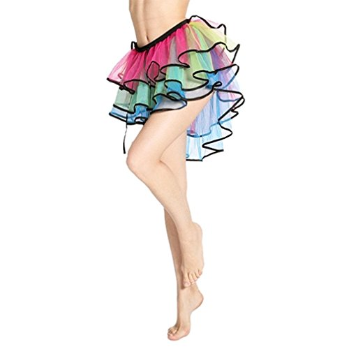 Rainbow Bright Costumes (Dreamdanceworks Halloween Adult Women Tutu Skirt Rainbow Costume Plus Size)