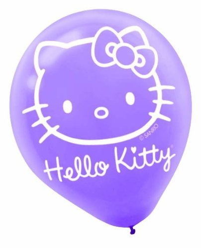 Hello Kitty Latex Balloons, 6ct by Factory Card and Party Outlet   B014VE98BM