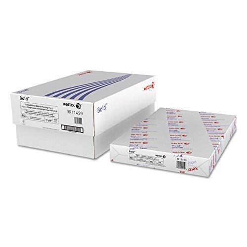 Xerox 3R11459 Bold Coated Gloss Digital Printing Cover Paper, 11 x 17, White, 250 Sheets/PK