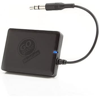Bluetooth Receiver Kit A2DP 14-hour Playback AUX Adapter - BlueGate by GOgroove - Wireless Music Streaming to Stereos, Outdoor Movie Speakers, & Headphones from Phones, Tablets, more Bluetooth players