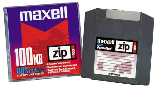 Maxell ZIP 100 DISK 100MB 1PK ( 580005 ) (Discontinued by Manufacturer)