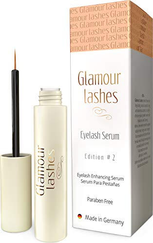 Eyelash Growth Serum Made in Germany - Effective lash Enhancer & Booster for longer lashes and thicker brows | Glamor Lashes Edition 2 (Active Ingredient In Rodan And Fields Lash Boost)