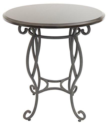 - Impacterra Atrium Bar Table, Smoked Copper/Kona, Counter Height