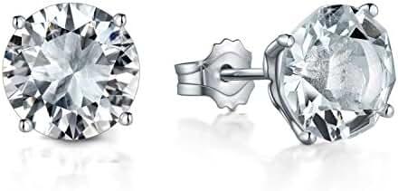 Voila Reve Stud Earrings White Gold Plated Sterling Silver Earrings