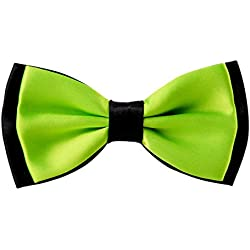 Bowtie for Men Fancy Adjustable Pre Tied Wedding Party Bow Ties, Lime Green