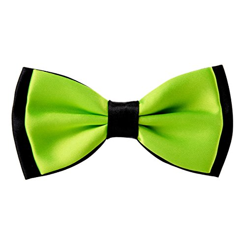 Bowtie for Men Fancy Adjustable Pre Tied Wedding Party Bow Ties, Lime Green ()