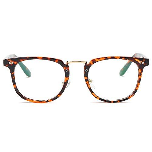 Amomoma Square Reading Glasses Optical Frame Clear Lens Eyewear Eyeglasses AM5021 C4 - 2017 Current Style Glasses