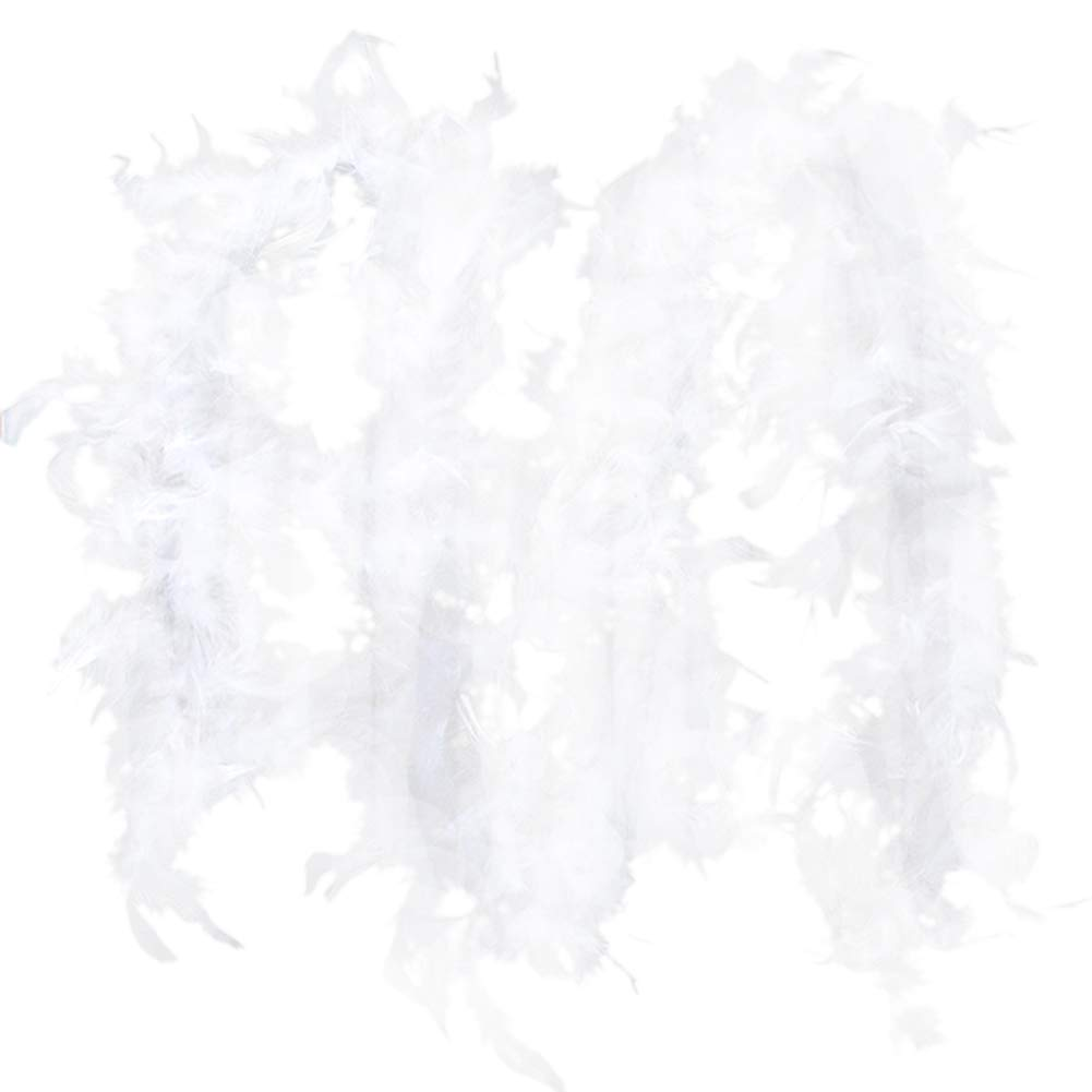 3X Feather Boa Black Red White Burlesque Showgirl Hen Night Halloween Accessory