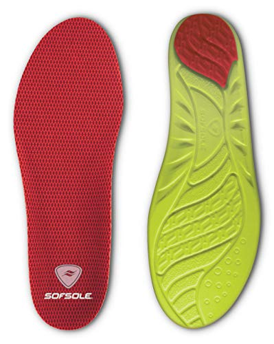 Sof Sole Women's Arch Full Length Comfort High Arch Shoe Insole, Women's Size 5-7.5 Red