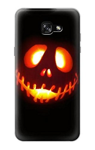R2335 Halloween Jack Pumpkin Carving Case Cover For Samsung Galaxy A7 -