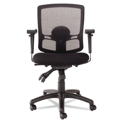 Alera® - Etros Series Mesh Mid-Back Multifunction Petite Chair, Black - Sold As 1 Each - An economical choice for mesh comfort.
