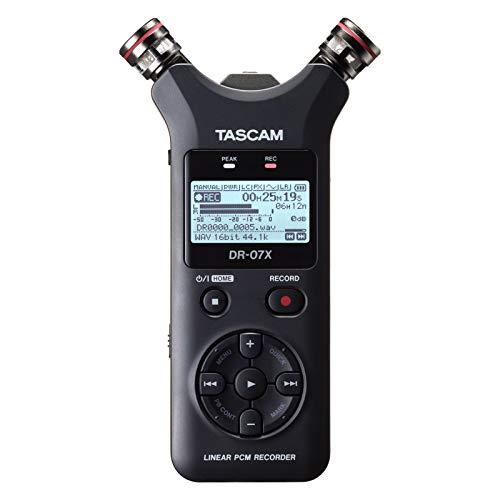 [해외]TASCAM 타스 캄-USB 오디오 인터페이스 내장 스테레오 리니어 PCM 레코더 DR-07X / TASCAM Taskham - Stereo Linear PCM Recorder DR-07X with USB Audio Interface