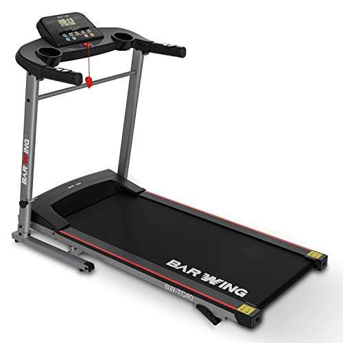 BARWING Basic Folding Treadmill ,3 Modes and 12 Preset Programs, with Manual Incline Adjustment, Easy Assembly Portable Running Machine