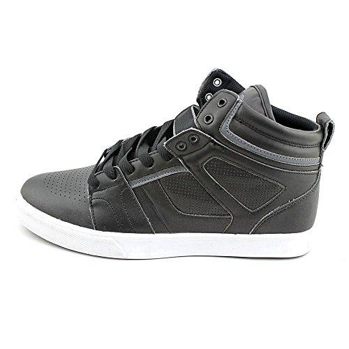 Osiris Raider Herren Schwarz Leder Skate Schuhe Größe 42,5 EUR Neu
