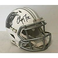 $125 » Christian McCaffrey Carolina Panthers Signed Autograph RARE ICE Speed Mini Helmet JSA Witnessed Certified