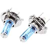 UXOXAS H4 90W 12V In-Car Halogen Light Bulb Filled with Xenon