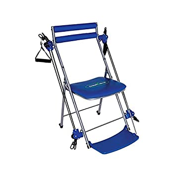 amazoncom chair gym total body workout blue leg exercise machines sports outdoors