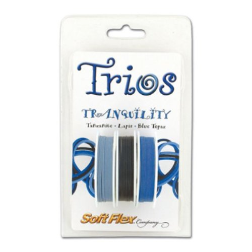 (Soft Flex Trio Bead Wire, Tranquility, 0.019 Inch, 10 Feet, Pack of 3 |)