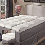 Super Snooze 5-inch 230 Thread Count Baffled Featherbed Set - King...