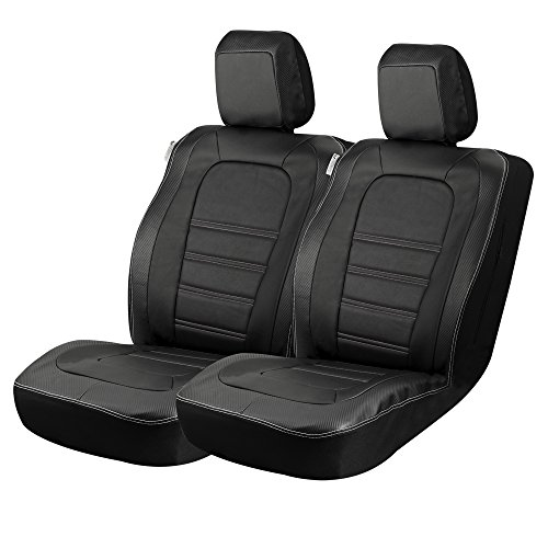 Masque 67017 Carbon Fiber Accent Truck Front Seat Covers