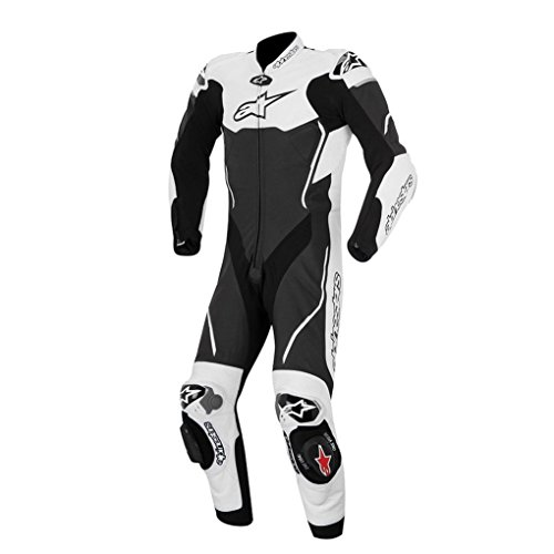Alpinestars Atem Leather Motorcycle Suit - Black/White - 58