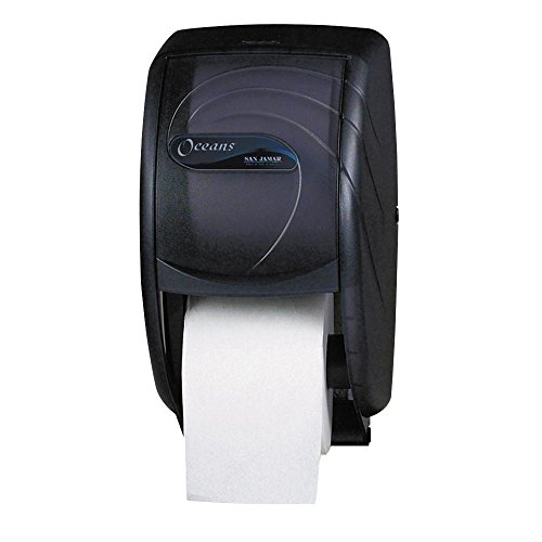 Duett Toilet Tissue Dispenser, 7 1/2 x 7 x 12 3/4, Black Pearl