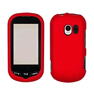 LG VN271 AN271 UN271 Extravert Hard Plastic Snap on Cover Solid Red (Rubberized) T-Mobile