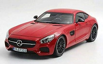 Brabus 600//base Mercedes-Benz AMG GT-S-rojo-Minichamps 1:18